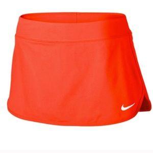 Nike tennis skirt. Pumpkin bright orange